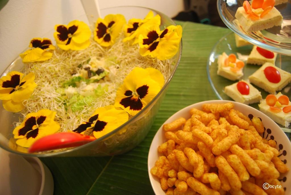 Aloha niversaire party mon bento v g tarien - Pomme de terre germee comestible ...