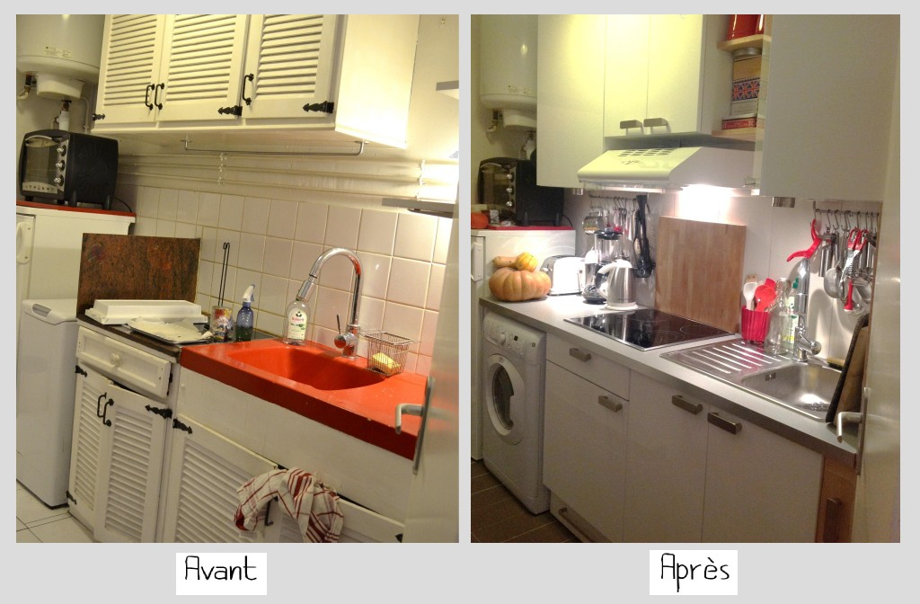 cuisine renovee avant apres photos de conception de. Black Bedroom Furniture Sets. Home Design Ideas