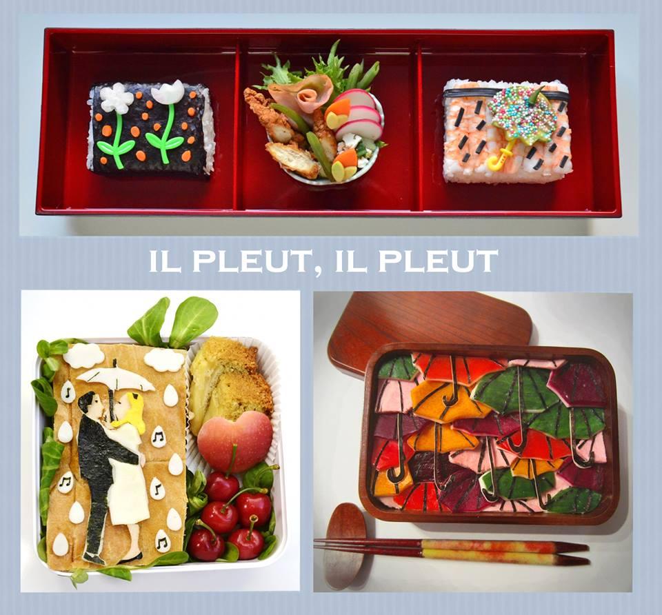 Collaboration bento 3 bento autour de la pluie blogs - Cuisine collaborative ...