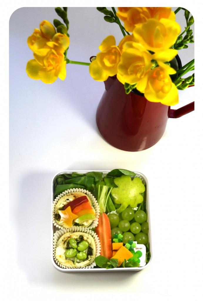 bento-saint-patrick-rainbow-trefle-vert-17-mars-vegetarien-saint-patrick's-day-arc-en-ciel-fleur