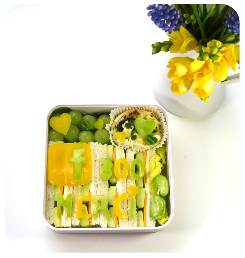 page-facebook-300-fan-merci-bento-sandwich-concombre-fromage-orange-vert-jaune