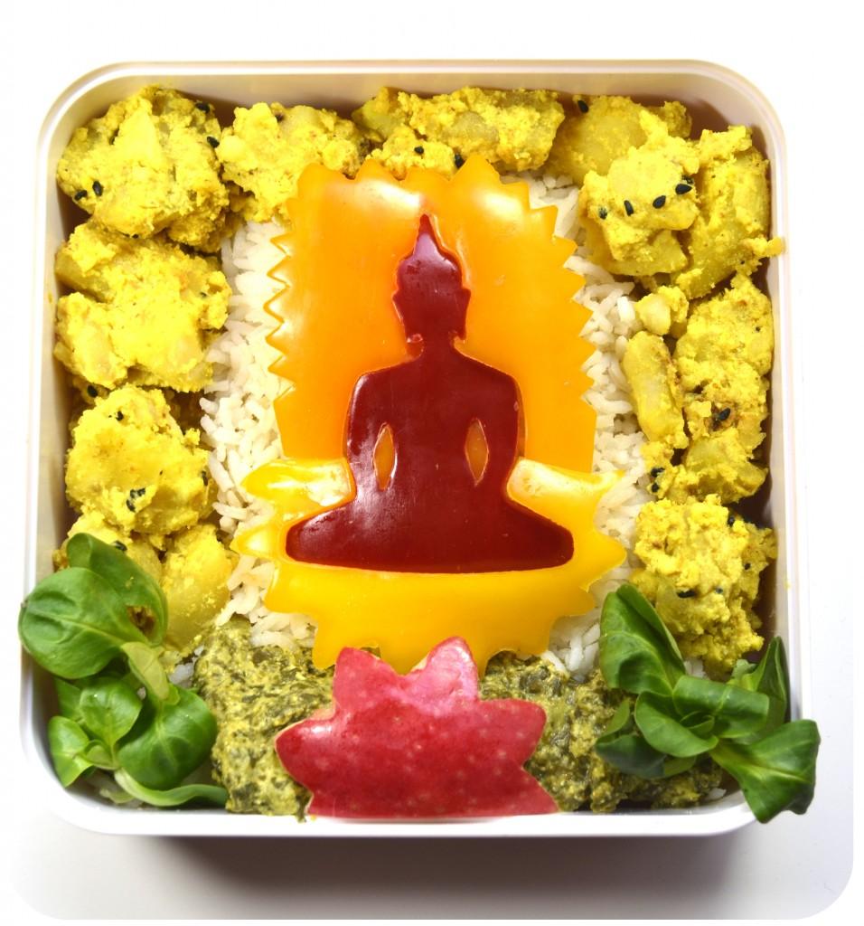 bento-bouddha-indien-vegetarien-curry-pomme-de-terre-epinard-basmati-emporte-piece