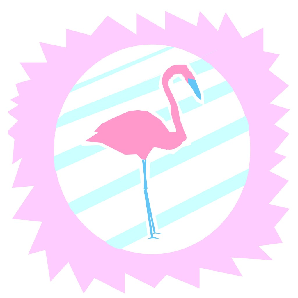 flamingo-flamant-rose-flamingo party-dessin-rose-bleu