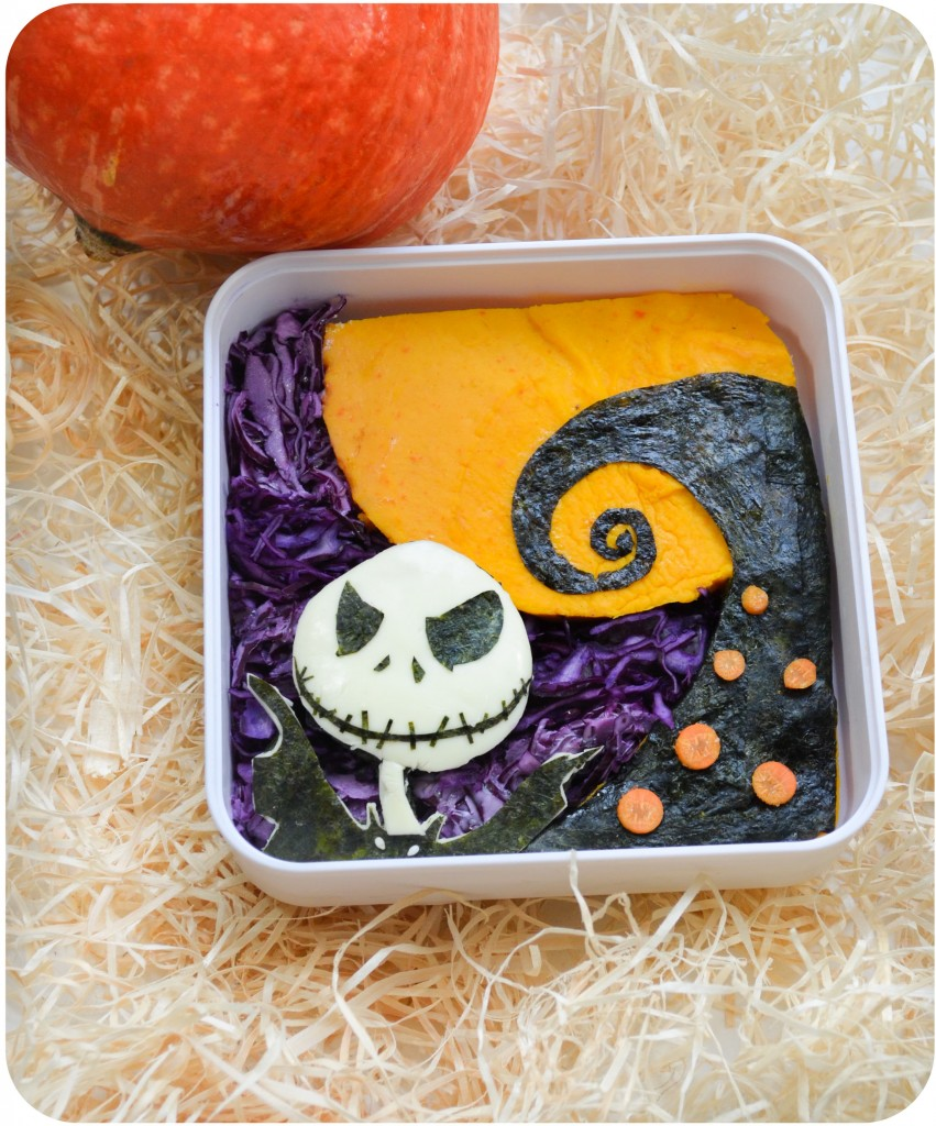 etrange noel de monsieur jack bento halloween nightmare before christmas jack  skellington tarte potimarron