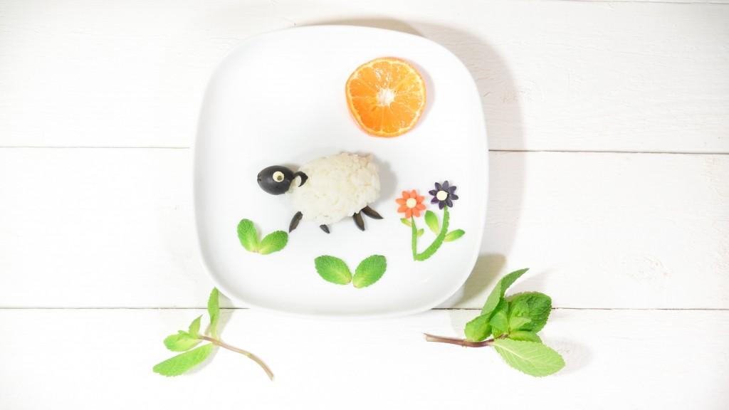 mouton agneau riz olive food art mon bento vegetarien