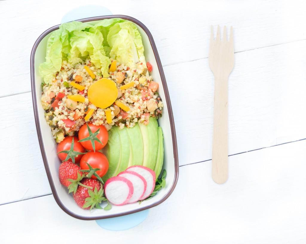 bento vegetarien taboulé boulgour quinoa conriandre café lunch soleil
